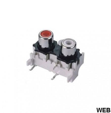 Conector RCA Stereo p/ Circuito Impresso
