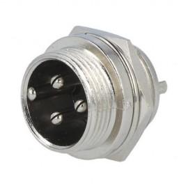 Conector XLR Macho 3 contactos do painel