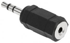 Ficha Adaptadora Jack 3,5mm Macho Stéreo - Jack 2,5mm Fêmea Stéreo