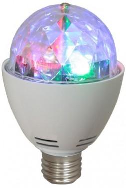Lâmpada LED RGB E27 c/ Efeito de Luz Rotativo