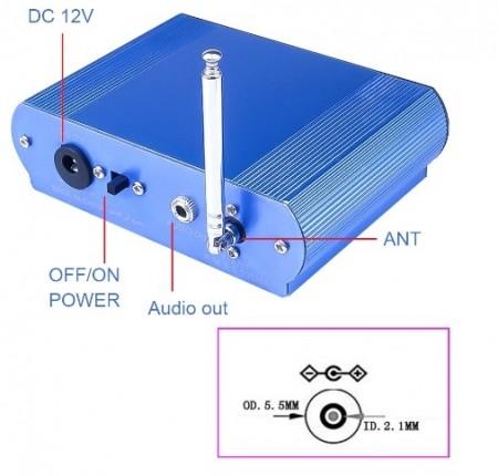 LEITOR MP3 C/ ENTRADA USB / SD / MMC, RÁDIO e BLUETOOTH C/ COMANDO