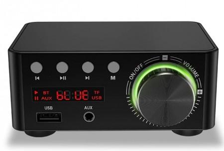 Mini Amplificador hi-fi 2 X 100 W USB - FT- BLUETOOTH 5.0