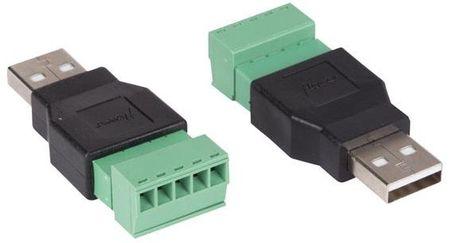 Pack 2 Fichas USB A Macho c/ Terminal de Parafuso (5 Pinos) - VELLEMAN