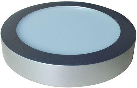 Painel de LED Superficie Redondo (Ø 17,5cm) 12W 6000K 1200Lm - Aço Escovado