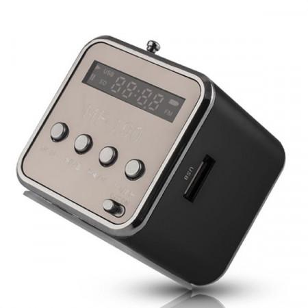 Rádio FM Portátil c/ Leitor USB / Micro-SD