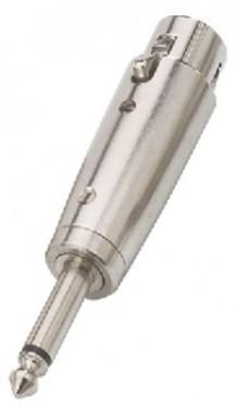 Adaptador XLR Fêmea / Jack 6,3mm Macho