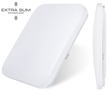 """Candeeiro Plafon Quadrado em LED """"EXTRA-SLIM"""" 18W 6000K 1260Lm - EDM"""