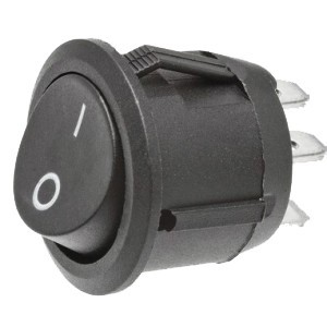 Interruptor Redondo 3 contactos ON-OFF / ON-ON