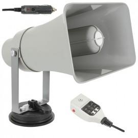 MEGAFONE DE VEICULO C/LEITOR USB/SD E LOOPER 25W