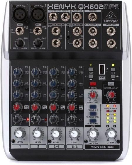 Mesa de Mistura 6 Canais c/ USB MP3 - Behringer