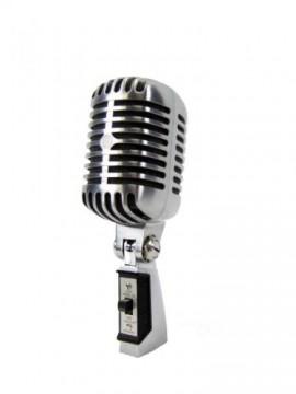 Microfone professional Vintage - Aço polido - Alta qualidade