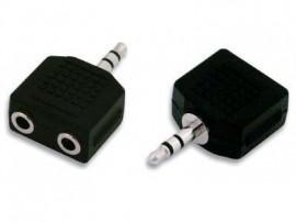 Adaptador Stereo Jack 3.5mm 1 x Macho / 2 x Fêmea