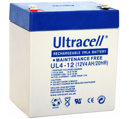 Bateria Chumbo 12V 4Ah (90x70x101 mm) - Ultracell