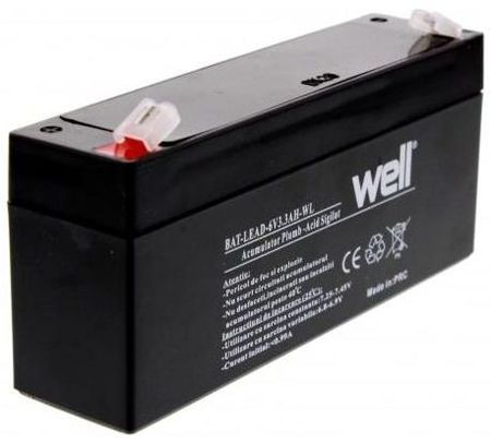 Bateria Chumbo 6V 3,3Ah (134 x 34 x 60mm) - WELL