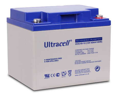Bateria de Gel 12V 45Ah (197 x 165 x 170 mm) - Ultracell