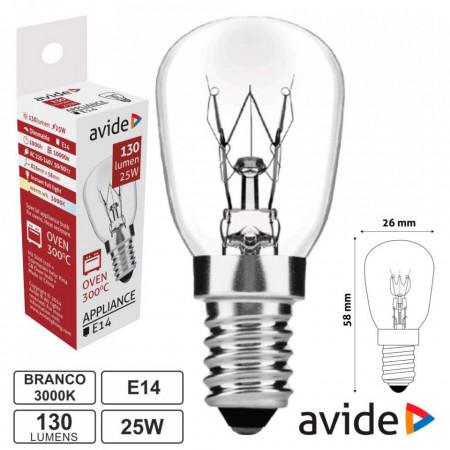 Lâmpada para Forno 300ºC - E14 25W