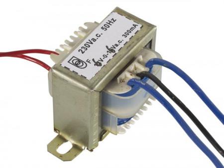 Transformador AC 6+6V 0.3A