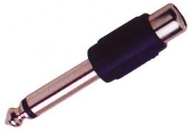 Adaptador Jack 6,3 mm Macho Mono - RCA Fêmea