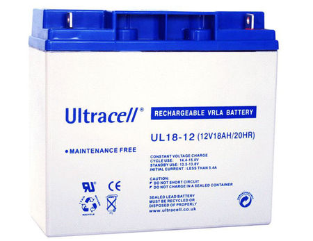 Bateria Chumbo 12V 18Ah (181 x 77 x 167 mm) - Ultracell