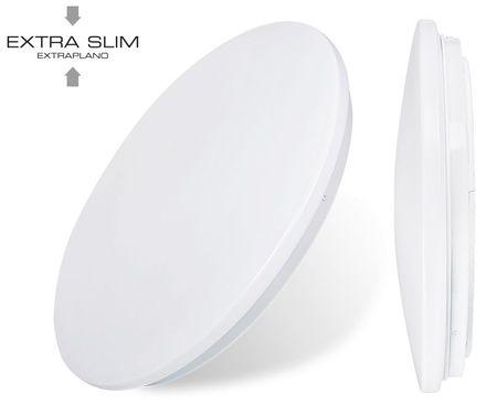 """Candeeiro Plafon Redondo em LED """"EXTRA-SLIM"""" 24W 6000K 1680Lm"""