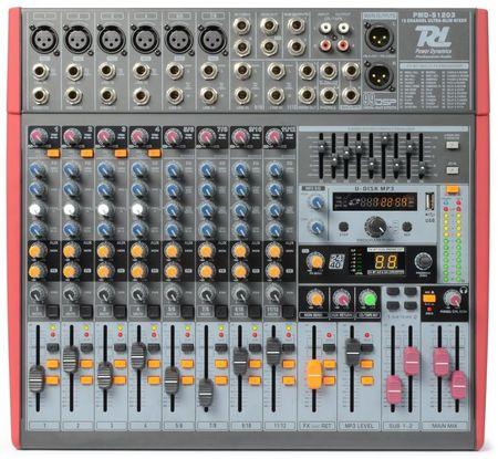 Mesa de Mistura 12 Canais c/ DSP USB MP3 AUX EQ FX (PDM-S1203) - Power Dynamics