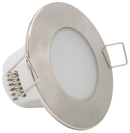 Painel de LED Redondo Ø9cm 5W Branco F. 6000K 380Lm - Cinza