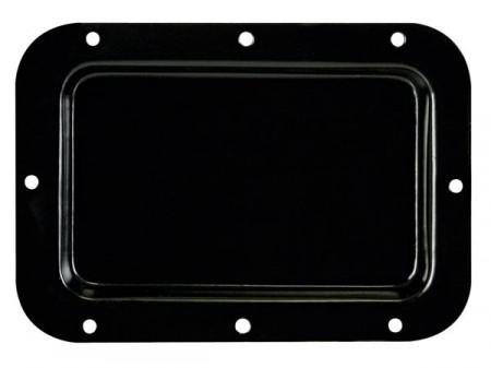 Placa cega para coluna em metal preto 126 x 179mm