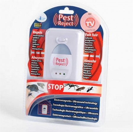 Repelente Pest Reject (ORIGINAL) Ultra-sónico (p/ ratos, insectos)