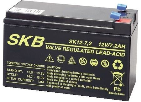 Bateria Chumbo 12V 7,2Ah (151 x 65 x 93 mm) - SKB