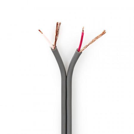 Cabo de áudio balanceado 2x 0,16 mm² 100% Cobre (Alta Qualidade) - metro