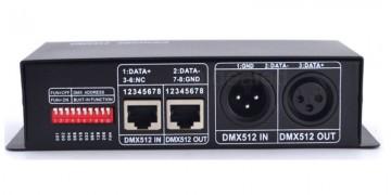Controlador DMX512 RGBW p/ Fitas de Led