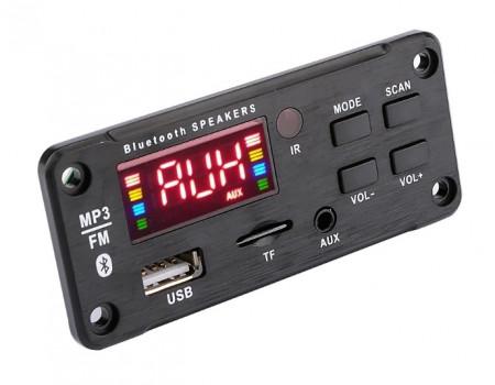 Leitor Com Amplificador - USB-MP3/WMA/WAV/FLAC/APE Bluetooth SD Radio FM + Comando