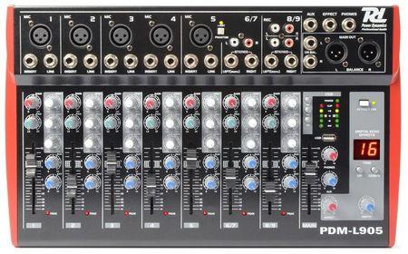 Mesa de Mistura 9 Canais c/ USB MP3 ECHO EQ (PDM-L905) - Power Dynamics