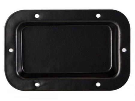 Placa Cega para Coluna em Metal preto 89 x 136 mm - HQ POWER