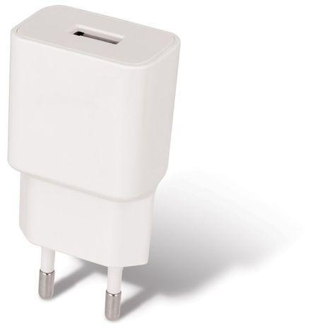 Alimentador/Carregador USB 5V 2.1A Branco c/ Cabo USB -> USB C Fast Charge (1 metro) - MAXLIFE