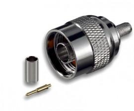 Conector N Macho Cravar para cabo RG58
