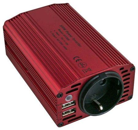 Conversor 12-220V 300W c/ USB (Onda Sonosoidal Modificada)