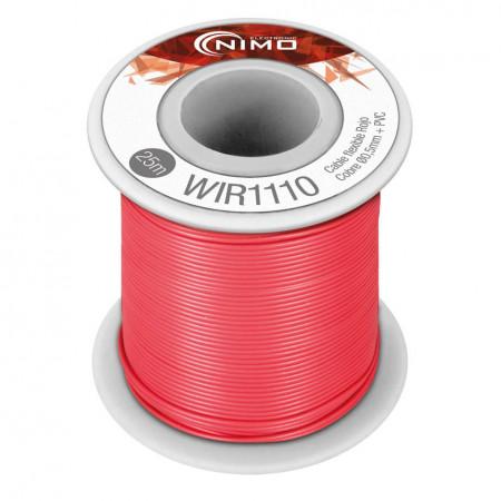 Fio Flexivel 0.5mm PVC vermelho 25 metros