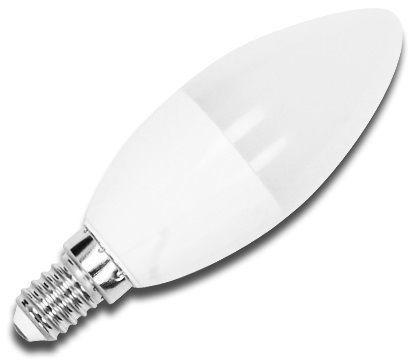Lampada LED Opalina 220V E14 7W Branco F. 6000K 560Lm