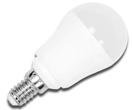Lampada LED Opalina 220V E14 7W Branco Q. 3000K 490Lm