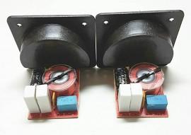 Placa coluna com crossover 2 vias (duas unidades)
