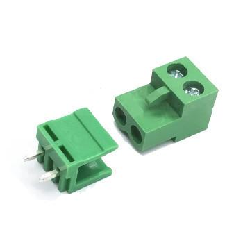 Terminal + ficha Circuito Impresso 5.08mm ângulo reto