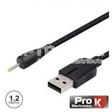 Cabo USB-A 3.0 Macho / DC 2.5x0.75mm P/ Tablet PROK