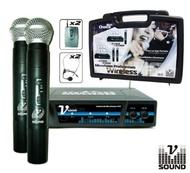 Central de 6 Microfones s/ Fios 2 Canais VHF 254.1/232.1MHZ VSOUND