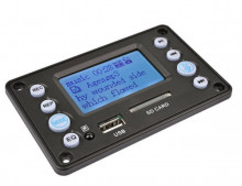 Leitor MP3 Bluetooth - SD - USB - ape, flac, wma, wav, mp3 - Radio FM + Comando