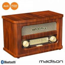 Rádio FM Portátil c/ Bluetooth Vintage - Madison