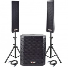 "Subwoofer Activo 12"" + 2 Tops 900W GLEMM"