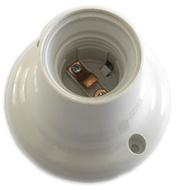 Suporte Casquilho p/ Lâmpada E27 c/ Base Direita