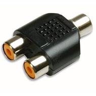 Adaptador de Áudio 2 RCA Fêmea para 1 RCA fêmea