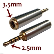 Adaptador jack 2.5mm para jack 3.5mm 4 contactos (microfone)